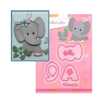 Eline's Elephant Metal Die Cut Set Marianne Cutting Dies COL1384 Animals