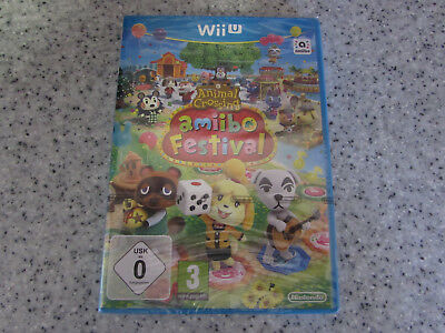 NINTENDO Wii U GAME WELCOME TO ANIMAL CROSSING AMIIBO FESTIVAL NEW & SEALED
