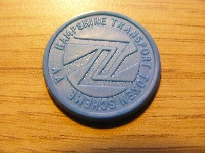 A Blue Hampshire Transport 5 Pence Token -  nice condition - 25mm Dia