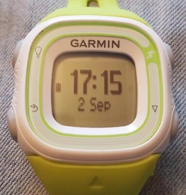 garmin forerunner 10 gps running watch small version lime green