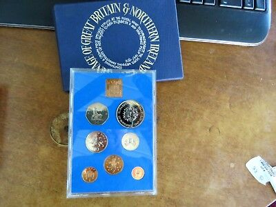 1972 United Kingdom Seven Coin Proof Coin Collection Set In Box