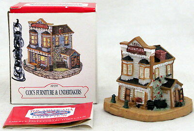 Liberty Falls Cox's Furniture & Undertakers Americana Collection Village AH38