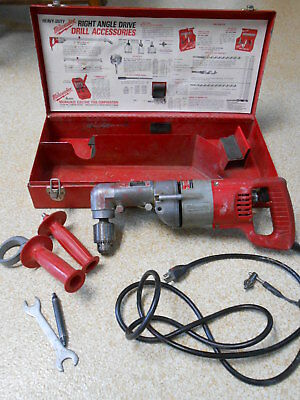 "Milwaukee Heavy Duty Right Angle 1/2"" Drill   1001-1   WORKS  tested"