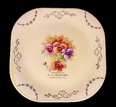 C W Rampley West Point Illinios Vintage Plate Souvenir Collectible ILL IL 8 1/4""