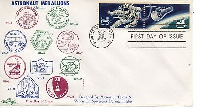 US FDC #1332b Space, Orbit Covers (6257)(6)