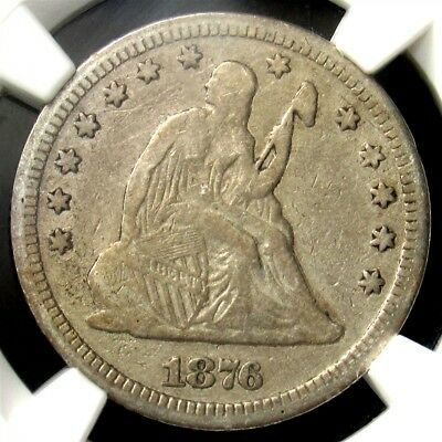 1876-CC Seated Liberty Quarter - NGC VF20 - Stack's W 57th St Carson City 25c