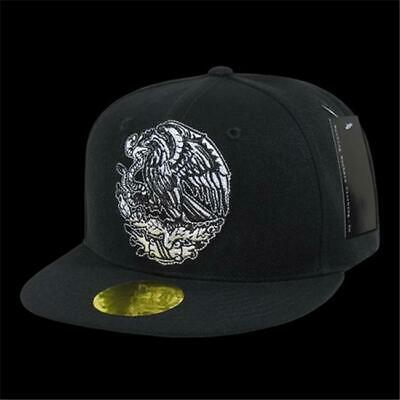 Decky N14-MEX-BLK Flat Bill Eagle Caps Mexico Black 17dc6133a002