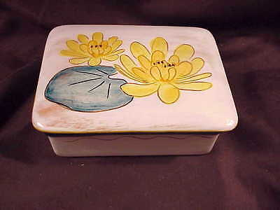 STANGL WATER LILY CIGARETTE BOX , c1949, EXCELLENT CONDITION!