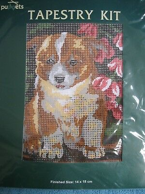 Coats PUPPETS Tapestry KIT Puppy DOG canvas & cotton