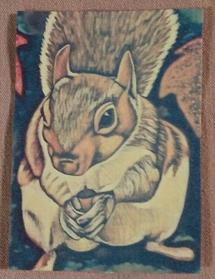 """Original ACEO Mixed Media Painting-""""The Squirrel-2 piece Set"""""""