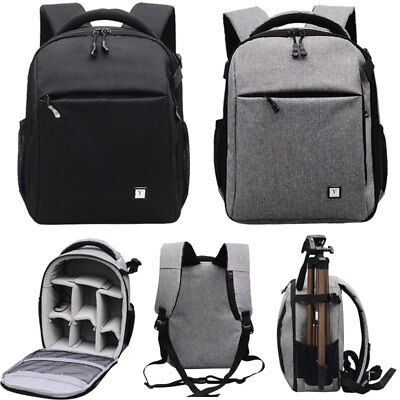 Large Camera Waterproof Shoulder Bag Backpack Case for Canon Nikon Sony DSLR SLR