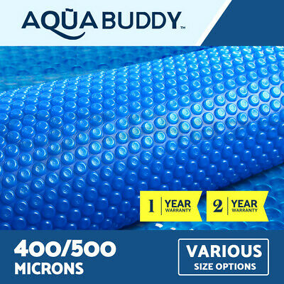 Aquabuddy Solar Swimming Pool Cover Outdoor Bubble Blanket REAL 400 500 Micron