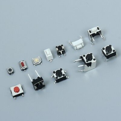 120Pcs Mixed Touch Switch Micro Switch Button Switch 12 Types Each 10Pcs