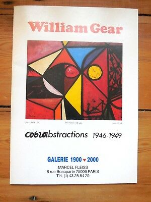 WILLIAM GEAR. cobrabstractions 1946-1949. catalogue. galerie 1900-2000. Paris