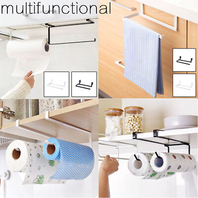 Kitchen Roll Holder Under Shelf Cabinet Paper Towel Dispenser Wall Mounted UK