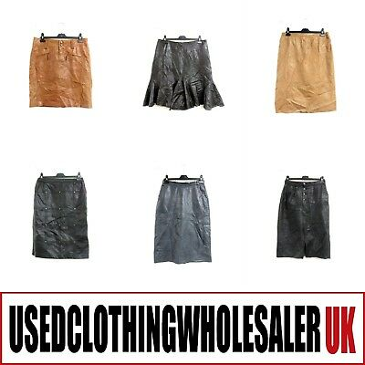 20 Women's Vintage Real Leather Skirts Glam Rock Wholesale Clothing Fashion #2