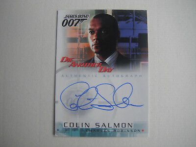 James Bond : Die Another Day : A7 Colin Salmon Autograph Card . Rittenhouse 2002