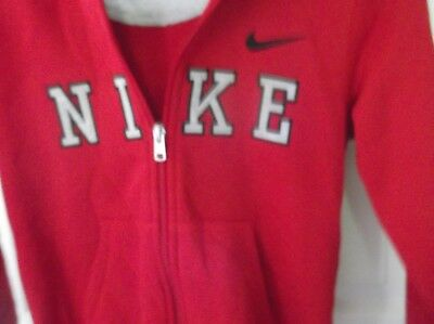 Nike Boys Size 7 Red Zipper Zip up Hoodie Jacket  new with tags