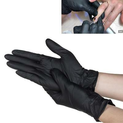 100/Box Nitrile Disposable Gloves Powder Free Non-Latex Black S, M, L