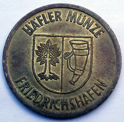 GERMANY, FRIEDRICHSHAFEN HÄFLER MÜNZE Parking Token 27mm 5.6g Brass FF6.6