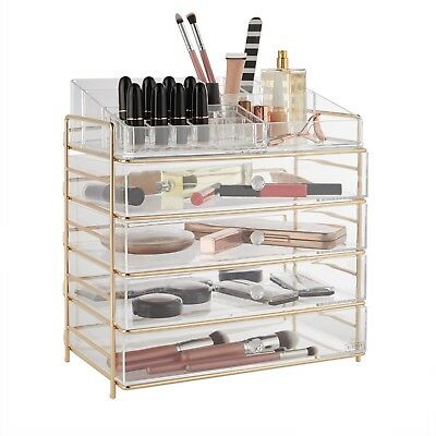 Beautify Acrylic Cosmetic Makeup Organiser Clear Beauty Storage Display Box Case
