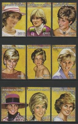 Senegal - 1998, Diana, Princess of Wales set - MNH