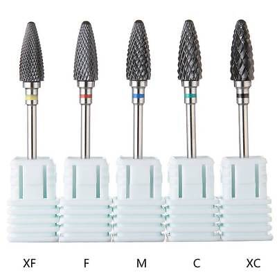 Ceramic Nail Art Grinding Drill Bits Bullet Bit Electric Manicure Mill Tip Tool