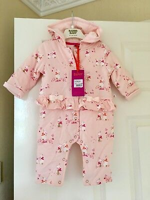 Ted baker Baby Girls Coat Snowsuit Age 3-6 Months BNWT Bunnies Blossom Print