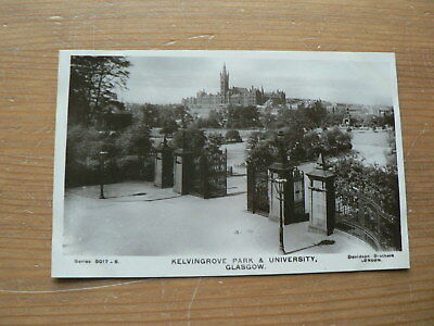 Old Photo Postcard: Kelvingrove Park + University, Glasgow, Scotland