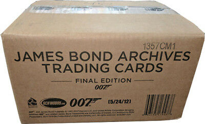 James Bond Archives 2017 Final Edition Full Case of 12 Factory Sealed Card Boxes