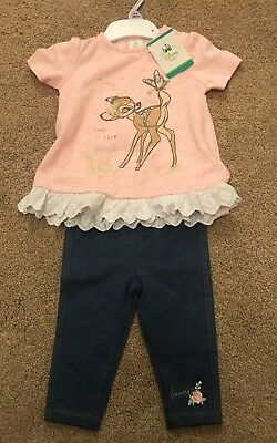 BNWT Disney Baby Bambi Outfit Size 3-6 Months