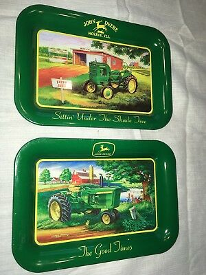 John Deere Mini Tin Trays 2 In Set