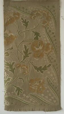 Lovely Art Nouveau (circa 1910) French Silk and Linen Woven Tapestry  - (2476)
