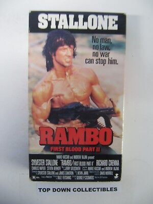 Rambo, First Blood Part II,  Sylvester Stallone,  Richard Crenna   VHS Movie