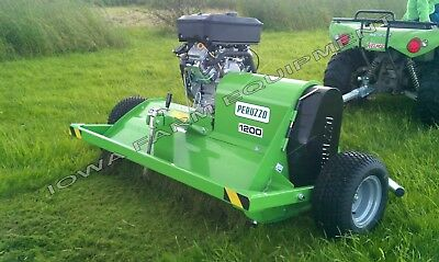 "Flail Mower,ATV,UTV Pull Type: Peruzzo Super Motofox 48"", 18hp 2Cyl, Elec Start!"