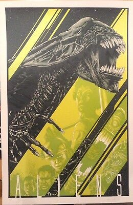 Aliens Steven Luros Holliday AP Poster Art Print Limited Edition