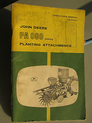 John Deere Pa 800 Series Planting Attachments Operator's Manual