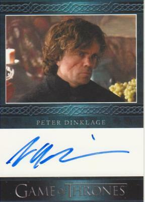 Game of Thrones Season 3 Blue Bordered Autograph Card - Peter Dinklage