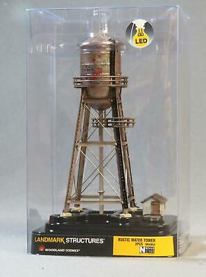 WOODLAND SCENICS RUSTIC WATER TOWER BUILT & READY N SCALE gauge town 4954 NEW