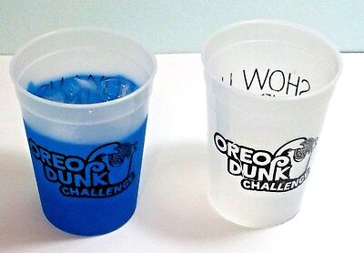 Oreo Dunk Challenge Color Changing Cups Set Of Two Plastic Show Us Your Dunk