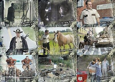 The Walking Dead Road To Alexandria Topps 2018 Complete Base Card Set Of 100 Tv