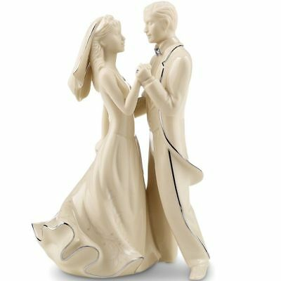 Lenox Wedding Promises First Dance Bride and Groom Fine China Cake Topper New