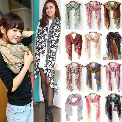Women Cotton Soft Long Neck Large Scarf Wrap Shawl Pashmina Stole Scarve Chiffon