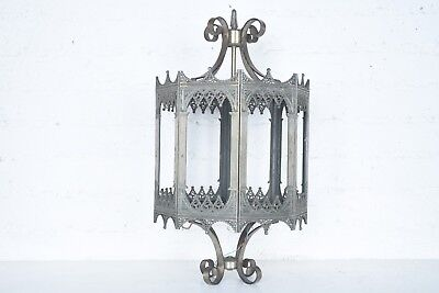 Antique Vintage Brass Medieval Gothic Light Lantern Hanging French