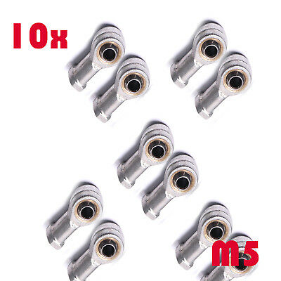 10pc 5mm Female Left Hand Thread Rod End Joint Bearing Metric M5x1mm