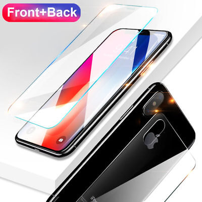 For iPhone 11 Pro Max XS XR 9H Tempered Glass Front+Back Full Screen Protector