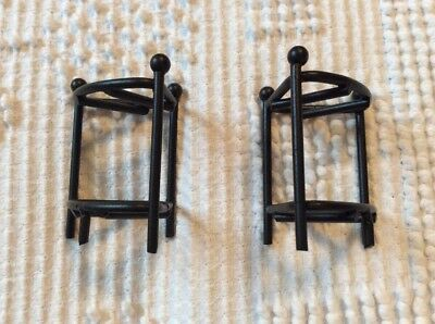 Longaberger Wrought  Iron Minature Corner Stands For Mini Pewter Baskets
