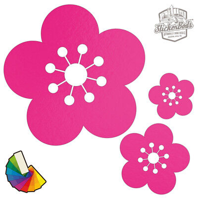 20 Daisy Flower Car & Wall Stickers / Decals | Choose from 30 Colours S1