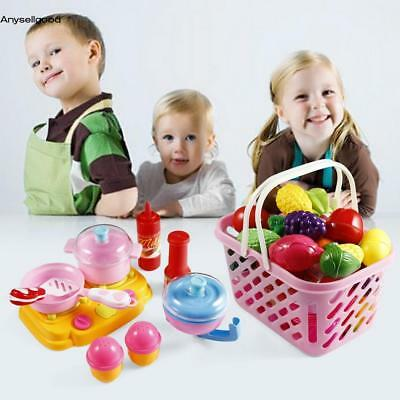 49PCS Kids Child Pretend Role Play Food Toys vegetables Fruits Juice Kitchen Toy