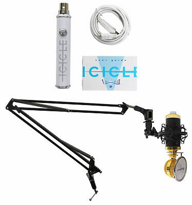 Rockville RCM02 Gaming Twitch Recording Microphone+Boom+Shockmount+Pop Filter
